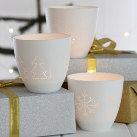 Wintery Tea Light Scenes