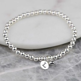 Personalised Solid Silver 'Mia' Heart Bracelet