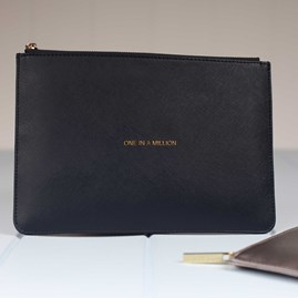 Personalised 'One In A Million' Navy Perfect Pouch