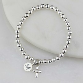 Personalised Child's Solid Silver Christening Bracelet