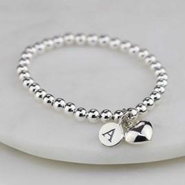 Personalised Children's Silver Heart Bracelet