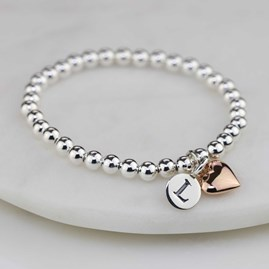 Personalised Children's Rose Gold Heart Bracelet