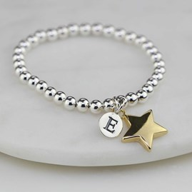 Personalised Children's Gold Star Bracelet