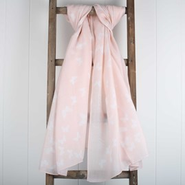 'Live Joyfully' Designer Blush Pink Scarf