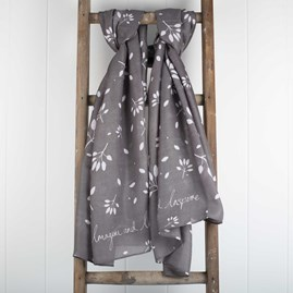 'Imagine And Inspire' Designer Charcoal Scarf