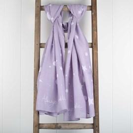 'Always Sparkle' Designer Lilac Scarf