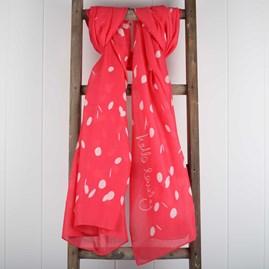 'Hello Lovely' Designer Fuchsia Pink Scarf
