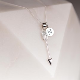 Personalised Cupids Arrow Pendant