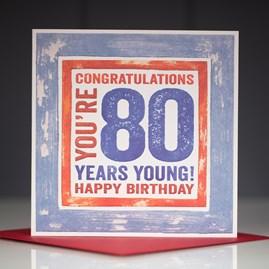 'Happy 80th' Birthday Card