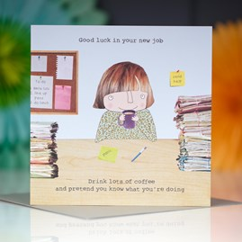 'Good Luck In Your New Job' Greetings Card