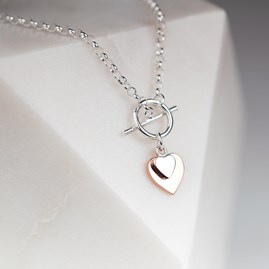 'Forever Hearts' Silver And Rose Gold Bracelet