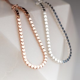 Rose Gold Or Solid Silver Slider Bracelet