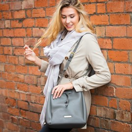 Cool Charcoal Designer Bucket Bag