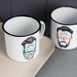 Mr Beard Enamel Mug
