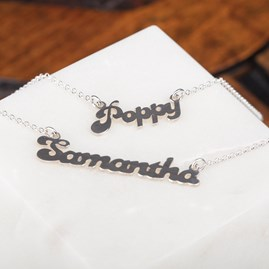 Personalised Solid Silver Name Necklace
