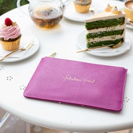 Katie Loxton Personalised 'Fabulous Friend' Candy Pink Perfect Pouch