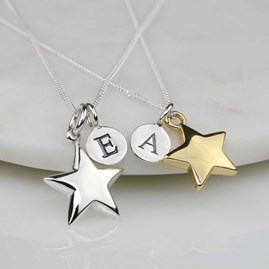 Personalised 'Shining Star' Necklace In Silver Or Gold