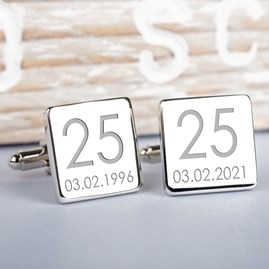 Personalised Wedding Anniversay Cufflinks
