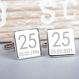 Personalised Wedding Anniversay Cufflinks