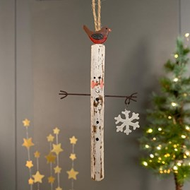 Hug Me Skinny Snowman Christmas Decoration