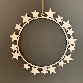 White Constellation Wreath Decoration