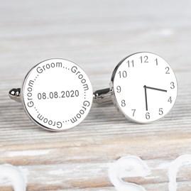 Personalised Wedding Cufflinks For The Groom