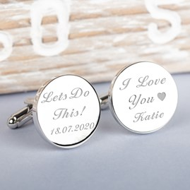 Personalised 'Let's Do This' Wedding Cufflinks