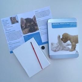 Animal Prints On Canvas Gift Tin