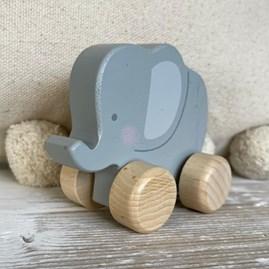 Bambino Wooden Push Toy Elephant