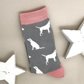 Bamboo Labrador Socks In Mid Grey