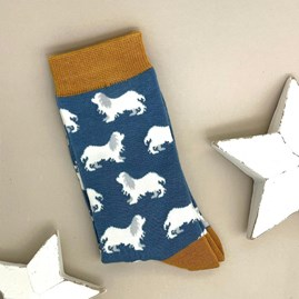 Bamboo Spaniels Socks In Denim
