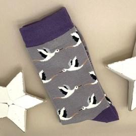 Bamboo Storks Socks In Grey