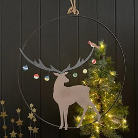 Bauble Stag Hanging Decoration