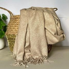 Beige Tassel Blanket Scarf