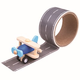 Runway Tape with Wooden Plane