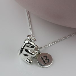 Personalised Solid Silver Rabbit Necklace