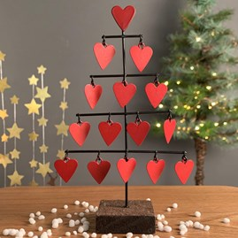 Tree Of Hearts Christmas Decoration