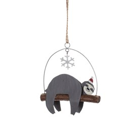 Christmas Sloth Hanging Decoration