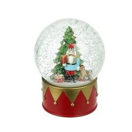 Christmas Tree & Nutcracker Soldier Snowglobe