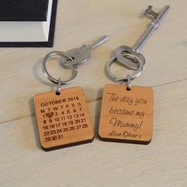 'The Day You Became My…' Personalised Keyring