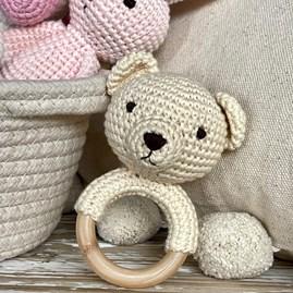 Crochet Ring Rattle Teddy