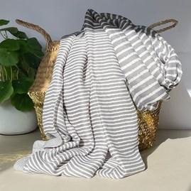 Cross Stripes Scarf in Grey