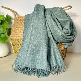 Dark Grey Tassel Blanket Scarf