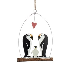 Emperor Penguins and Baby Hanging Decoration