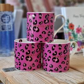 'Fabulous' Leopard Print Bone China Mug