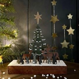 Forest Scene Christmas Decoration