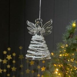 Glass Angel Hanging Decoration