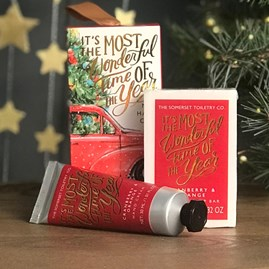 Festive Hand Cream And Scented Soap Set