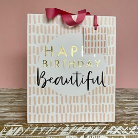'Happy Birthday Beautiful' Large Gift Bag