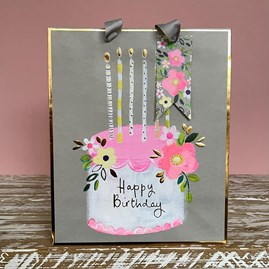 'Happy Birthday' Cake Large Gift Bag